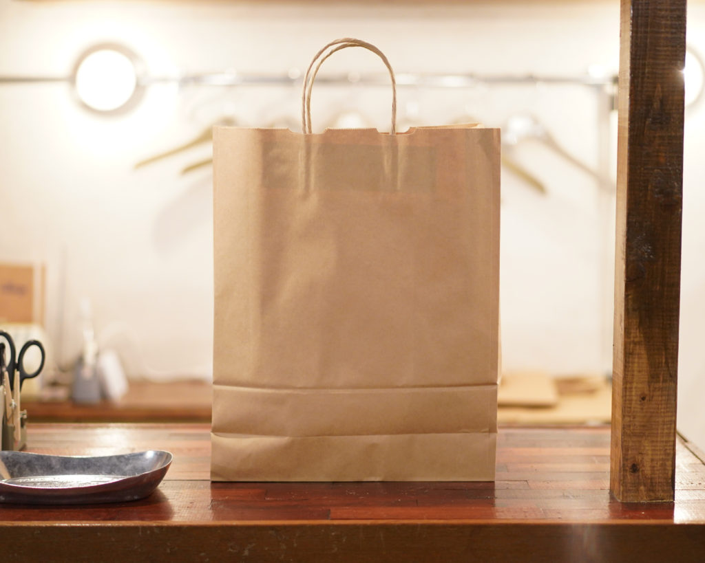 紙袋有料化についてお知らせ